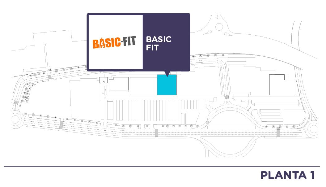Localizacion Basic Fit en Centro comercial Bahia Real