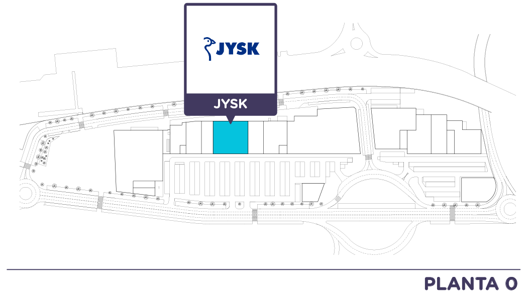 Localizacion JYSK en Centro comercial Bahia Real