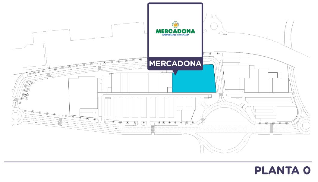 Localizacion Mercadona en Centro comercial Bahia Real