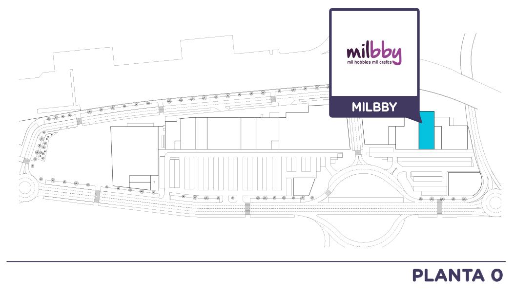 Localizacion Milbby en Centro comercial Bahia Real