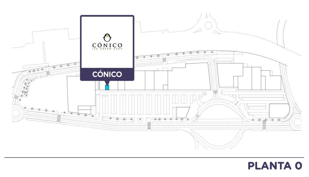 Localizacion Conico en Centro comercial Bahia Real