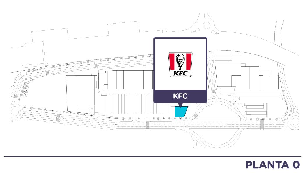 Localizacion KFC en Centro comercial Bahia Real