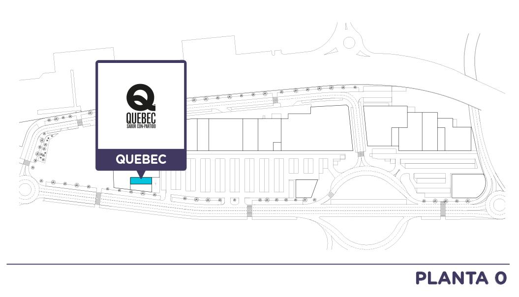 Localizacion Quebec en Centro comercial Bahia Real