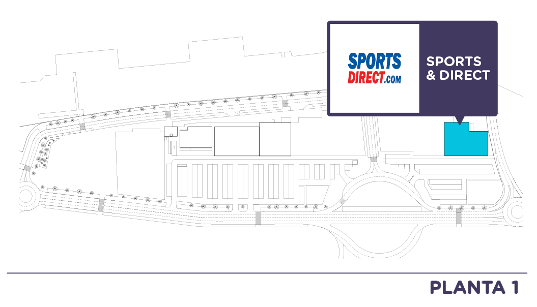 Localizacion Sports Direct en Centro comercial Bahia Real