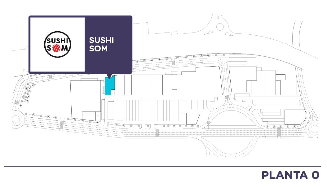 Localizacion Sushi Som en Centro comercial Bahia Real