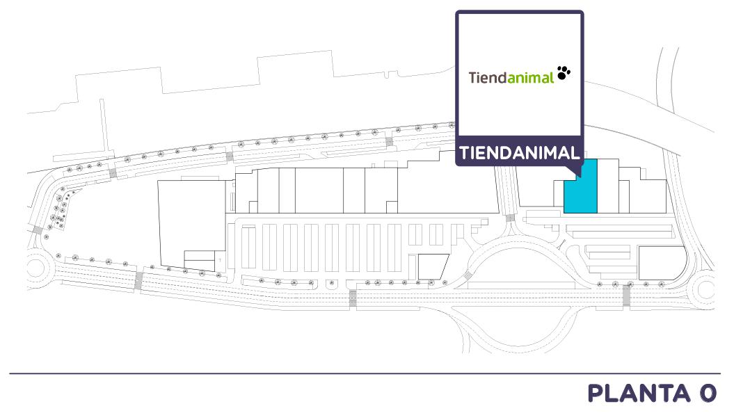 Localizacion Tienda Animal en Centro comercial Bahia Real